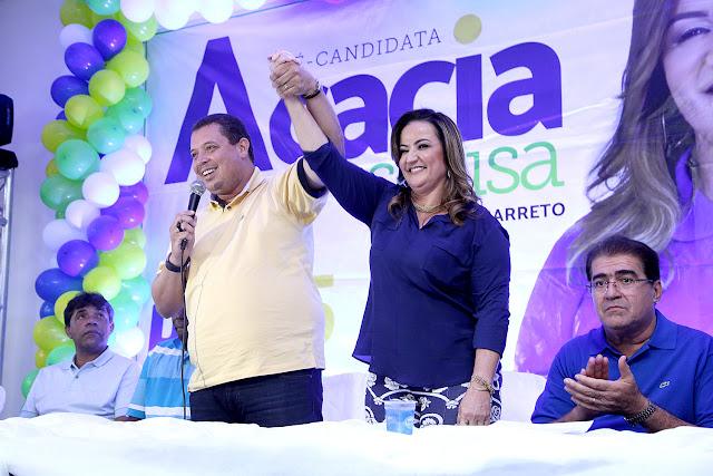 Convenção define Acacia Sousa e Elsinho Barreto como candidatos em Areia Branca
