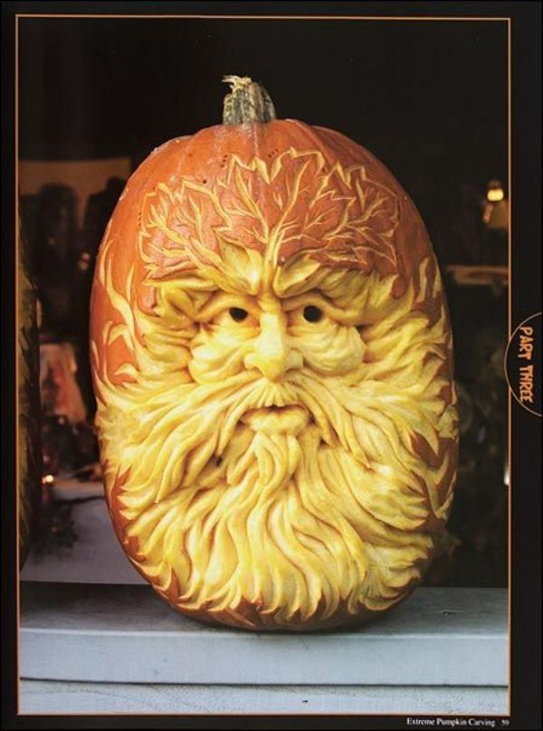 Cool Pumpkin carving - Old Man