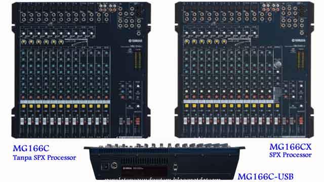 Harga Mixer Yamaha MG166CX dan MG166C 16 Channel