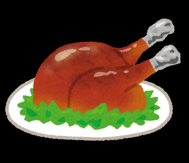 七面鳥鶏肉の丸焼きのイラスト かわいいフリー素材集 いらすとや