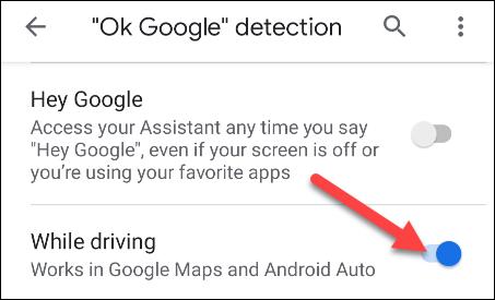 السماح لاكتشاف جوجل طيب أثناء القيادة