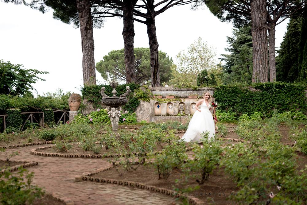 Bride Villa Cimbrone