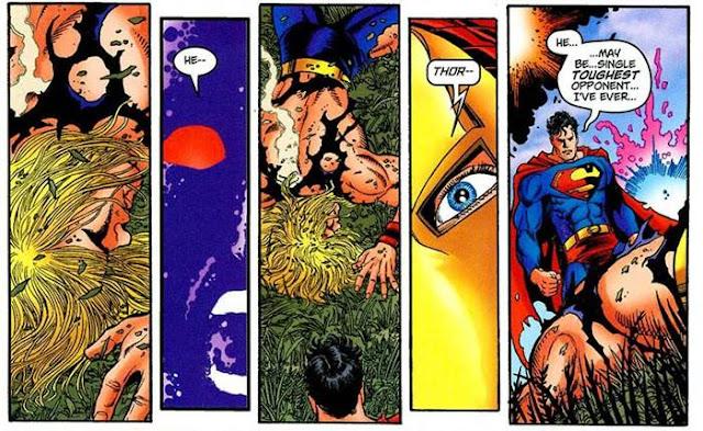 superman lebih kuat dari thor marvel