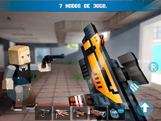 Jogo de FPS em pixel para Android Com Dinheiro Infinito