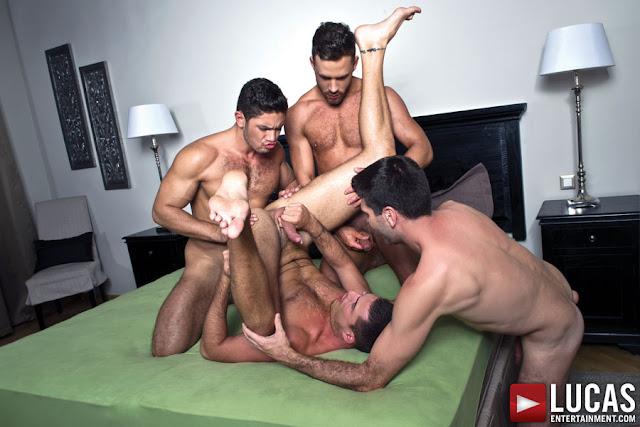 Dato Foland, Craig Daniel, Logan Moore, And Theo Ford | Bareback Sex Foursome