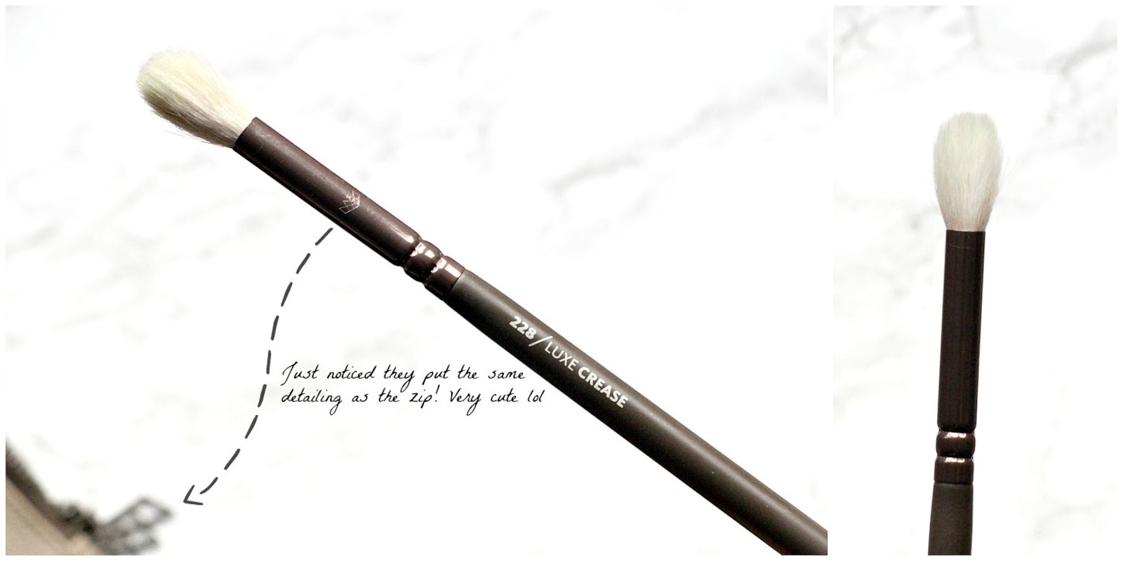 zoeva en taupe 228 luxe crease eyeshadow brush review