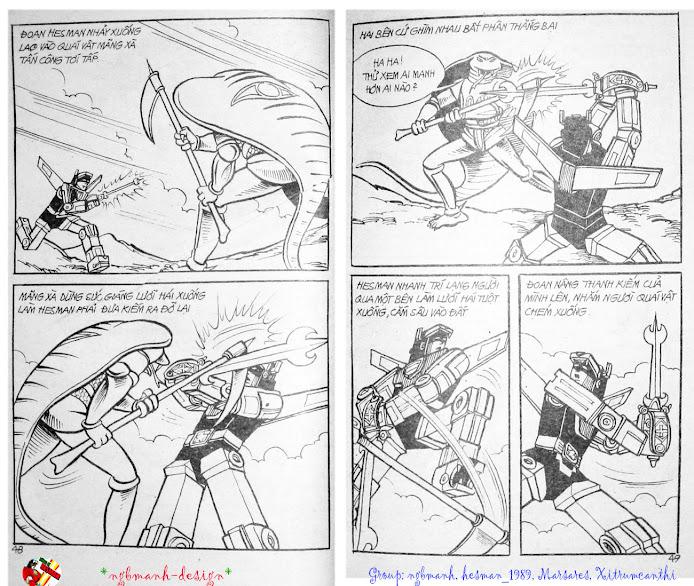Dũng Sĩ Hesman tập 3 - mãng xà giả dạng trang 26