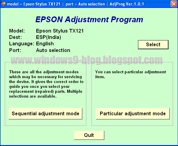 Download Epson Stylus TX121 resetter, Epson Stylus TX121 Service required software, Download Epson Stylus TX121 adjuster, Epson Stylus TX121 service required, Download Epson Stylus ME 320 resetter, Download Epson Stylus ME 320 Service required software, Download Epson Stylus ME 320 adjuster, Epson Stylus ME 320 service required