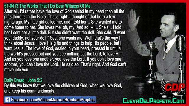 But I want Jesus, The love of God - William Branham