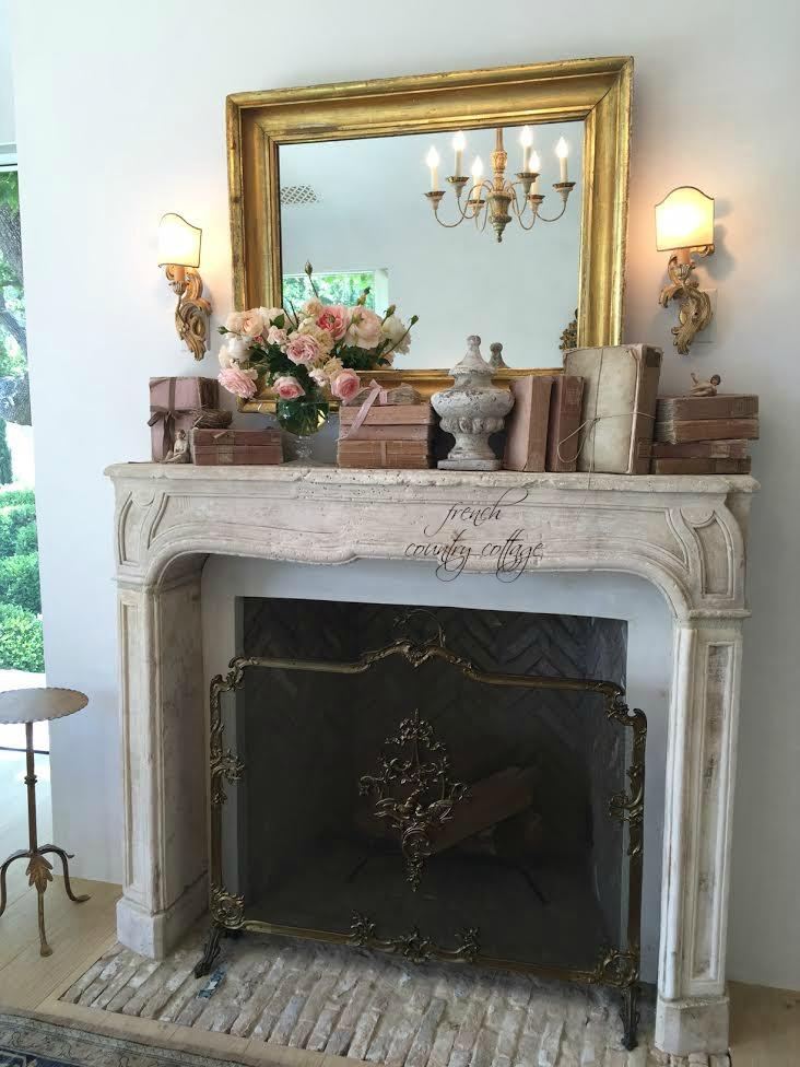 Antique Mirror Fireplace