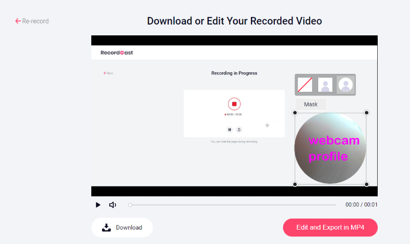 Download and edit your course video