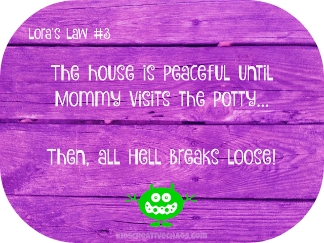 Facebook Quotes: Hell Breaks Loose Mommy Potty Lora's Law