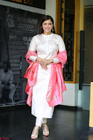 Mannara Chopra in Silky White Salwar Suit with Pink Chunni Latest Exclusive Pics March 2017 ~  036.JPG