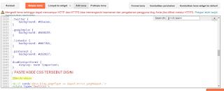 Paste kode CSS