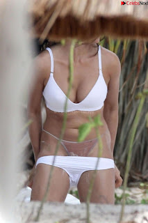 Monika Clarke in Tulum in White   CELEBRITY.CO Exclusive Celebrity Pics 004