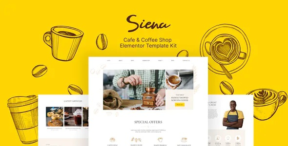Best Cafe and Coffee Shop Template Kit