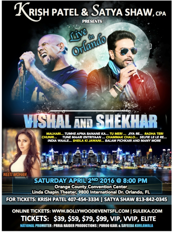 Vishal and shekhar Live in Orlando