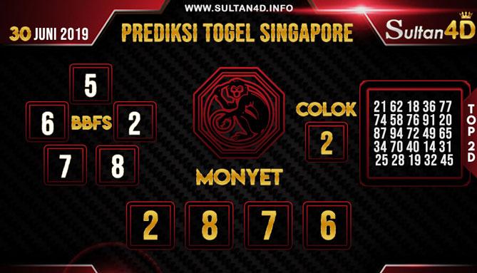 PREDIKSI TOGEL SINGAPORE SULTAN4D 30 JUNI 2019