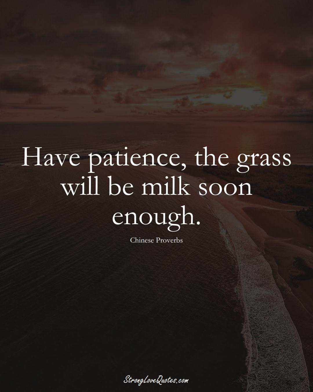 Have patience, the grass will be milk soon enough. (Chinese Sayings);  #AsianSayings