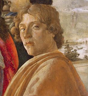 Λεπτομέρεια από την Προσκύνηση των Μάγων (περ. 1475), πιθανή αυτοπροσωπογραφία του Μποττιτσέλλι