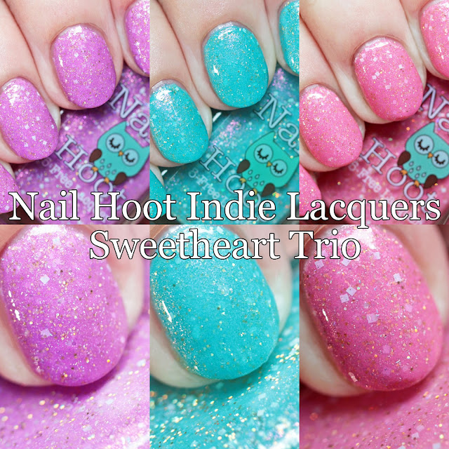 Nail Hoot Indie Lacquers Sweetheart Trio
