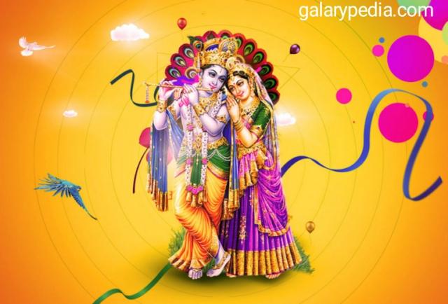 Krishna radha holi images
