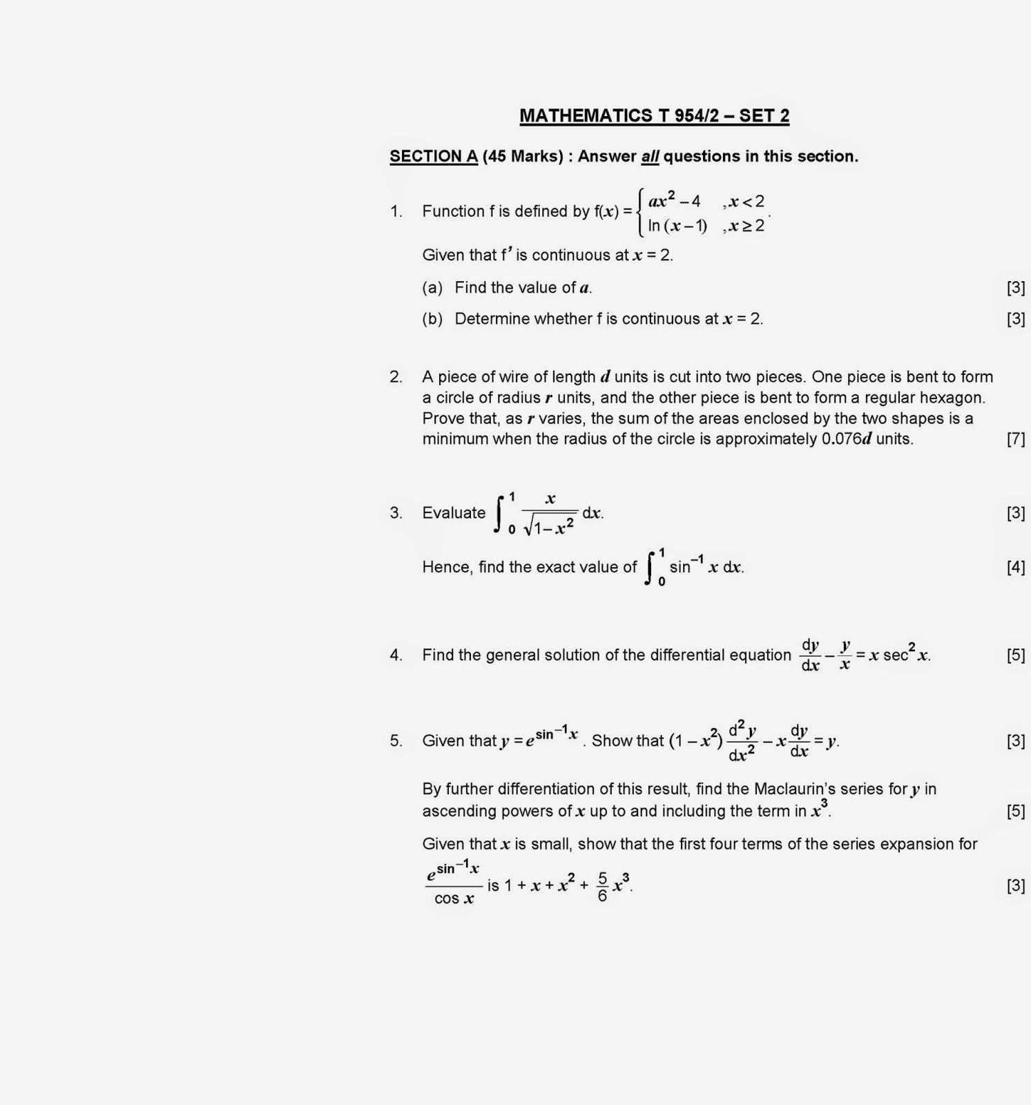 Additional coursework on resume mathematics 2013