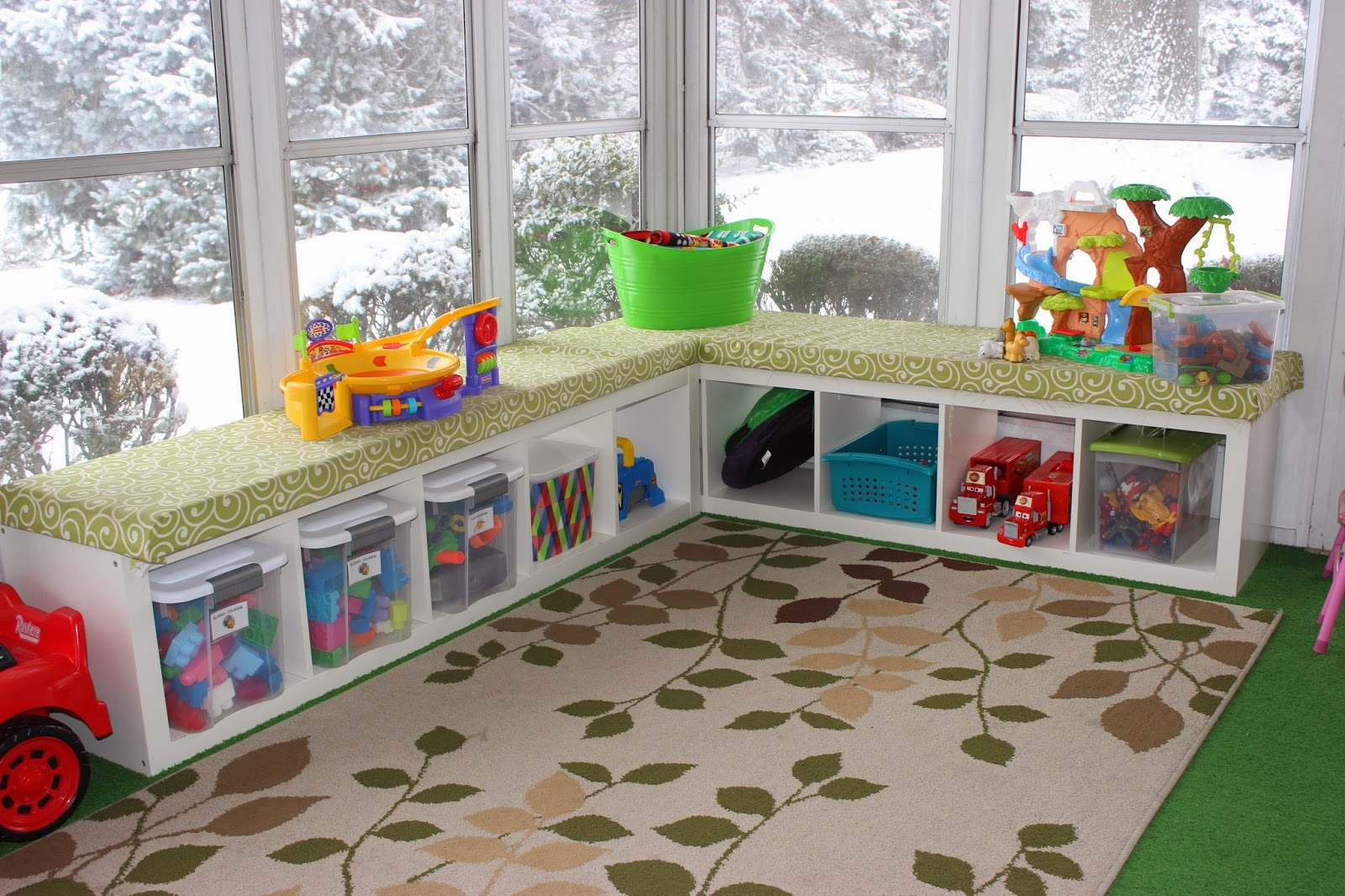 Playroom: Organizing For Six: Our Playroom In The Sunroom