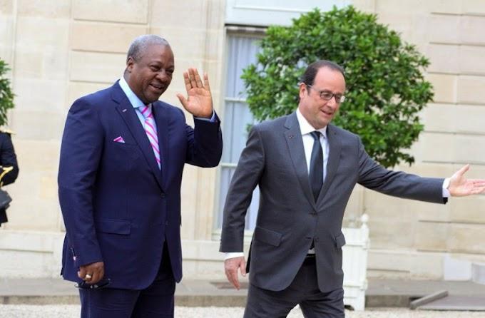 Mahama in Paris to meet Hollande, talk SDG