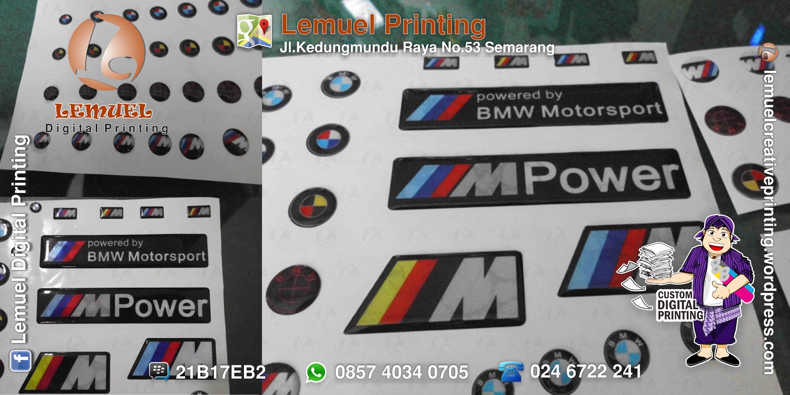 Custom sticker doming berkualitas by digiprint