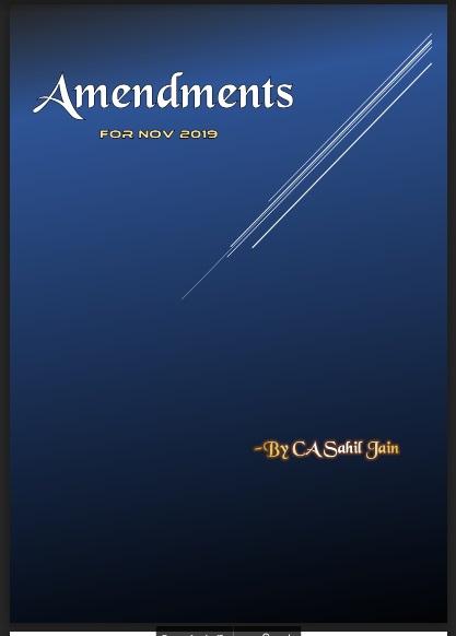 CA Final Paper 7 - DT Amendments for Nov 19 Exams