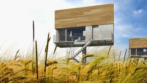 BILLBOARDS TO TURN INTO MODERN SMALL HOUSES