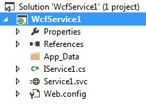 WCF Service folder structure