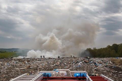 Kigyulladt a királyszentistváni hulladéklerakó