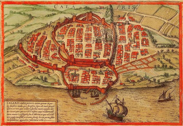 Barris històrics de Càller a la Civitates Orbis Terrarum