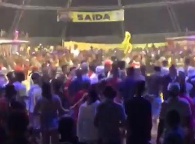 Ao Voz da Bahia, 14º BPM informa que debelou tumulto no 'Trezenário' de S. A. de Jesus; ver vídeo