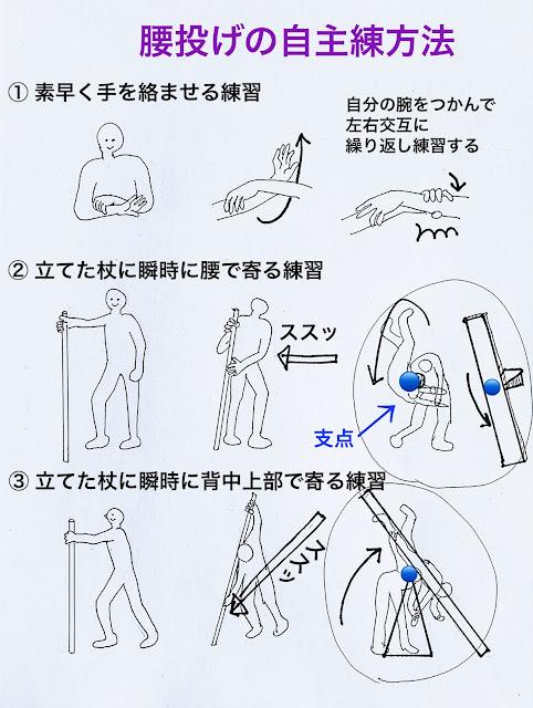 腰投げの自主練方法