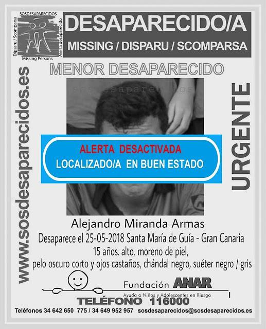 Menor, 15 años, desaparecido en Guía, Gran Canaria