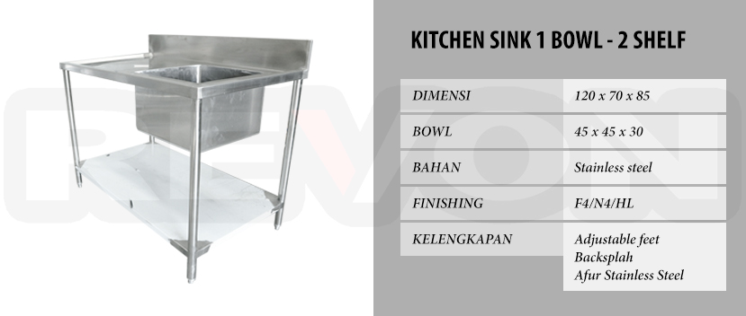 Harga Kitchen Sink Stainless Steel (Bisa Custom)