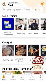 Cari Ide Memasak? Download Aplikasi Resep Masakan Yummy App Saja -  Fitur Home