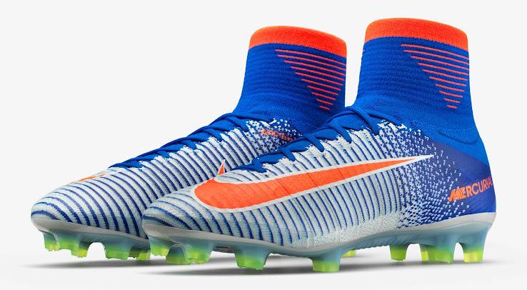Bild: Mercurial Superfly V Fußballschuh weiß seite 2016 von Nike