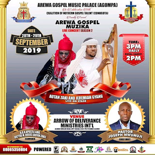 Jeremiah Gyang And Other Powerful Ministers To Storm Jalingo For Arewa Gospel Musika Season 2