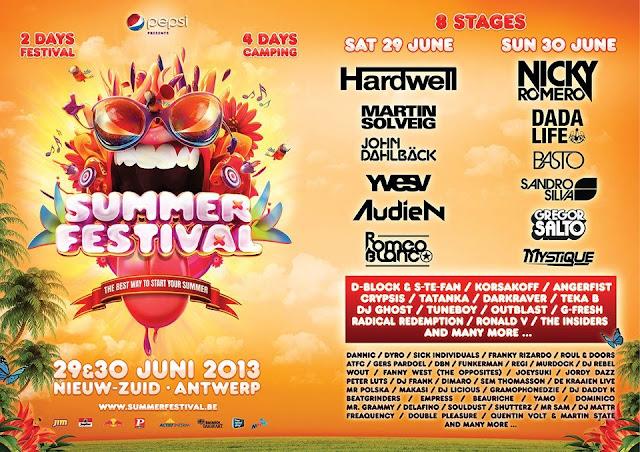 Atractivo flyer de festival