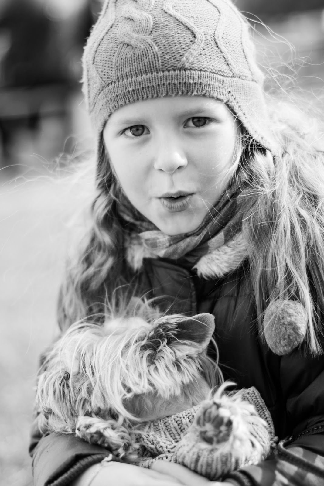 Little girl and the dog