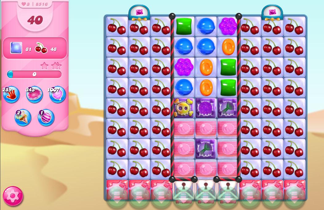 Candy Crush Saga level 8516