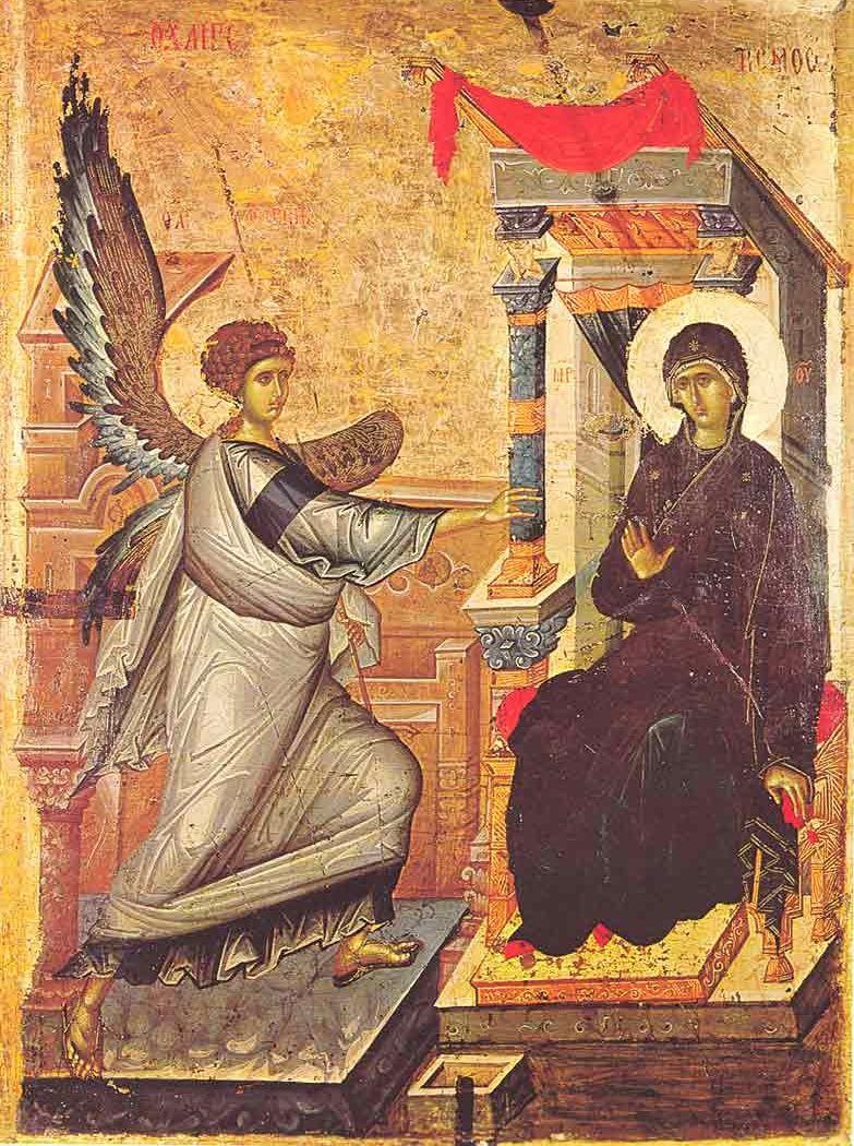 El Icono de la Fiesta de la Anunciación.