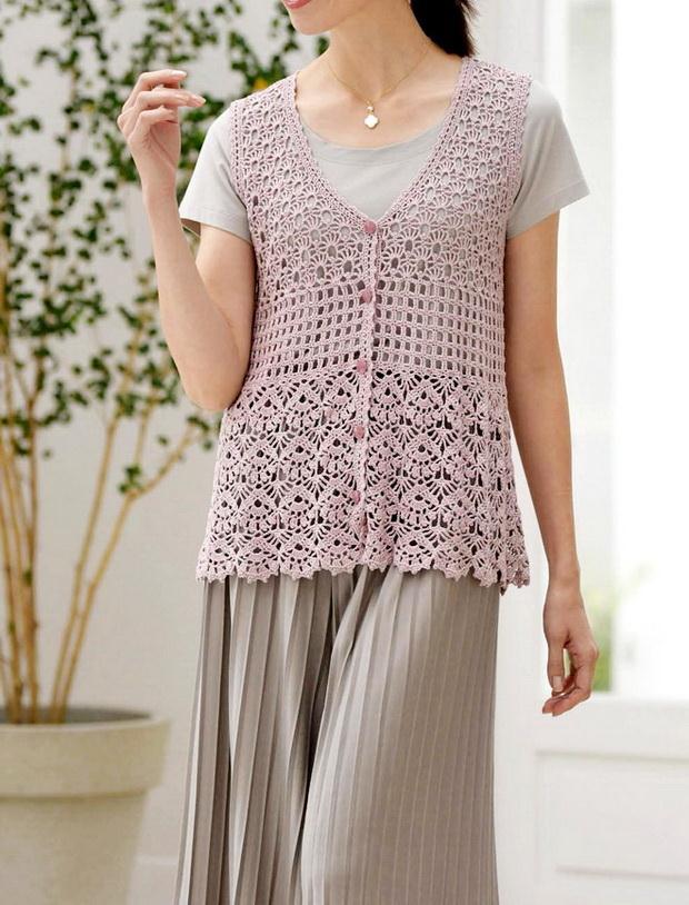 Crochet Vest - Women Lace Vest