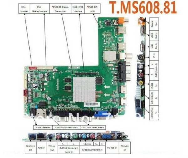 T.MS608.81 Smart LED TV Board Software Download All ...