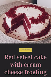 This easy red velvet cake recipe is moist, soft and tender.  You'll be impressed with how easy it easy  to make this cake. All you need to do is whisk wet and dry ingredients together. This red velvet cake has a perfect tangy taste from lemon juice. This cake recipe is my go-to red velvet cake recipe, it might look red rather than red velvet taste but regardless of the color, the cake is as delicious as it looks.