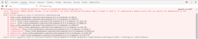 AngularJs Error $injectornomod Module is not available